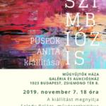 Püspök Anita festőművész kiállítás meghívó szimbiózis